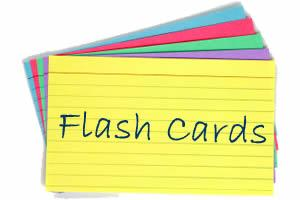 flash cards for memory