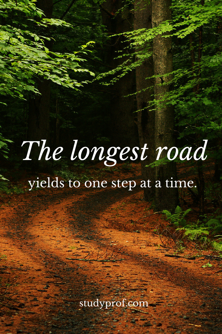 Motivation: The Longest Road Yields to One Step at a Time