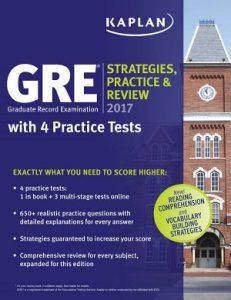 Kaplan GRE Prep Book 2017